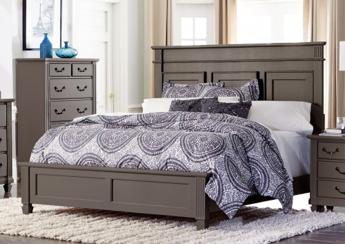 Granbury Panel Bed - Grey Rub