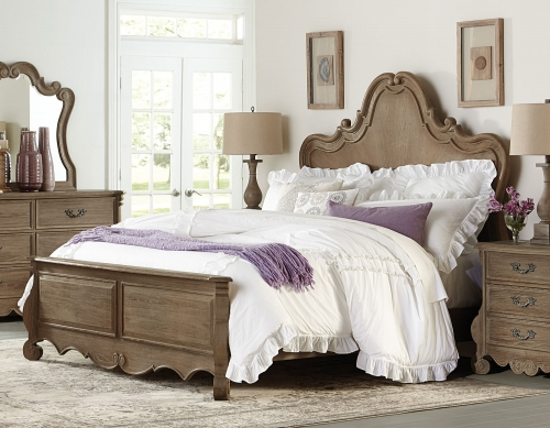 Chrysanthe Bed - Oak