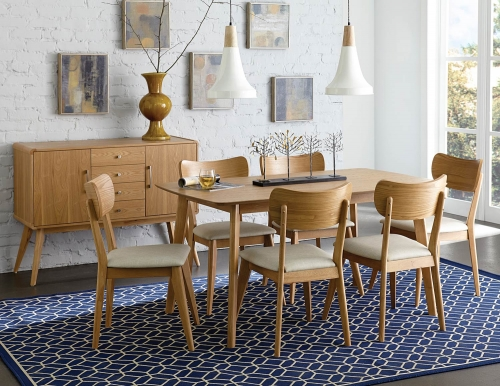 Anika Dining Set - Light Ash
