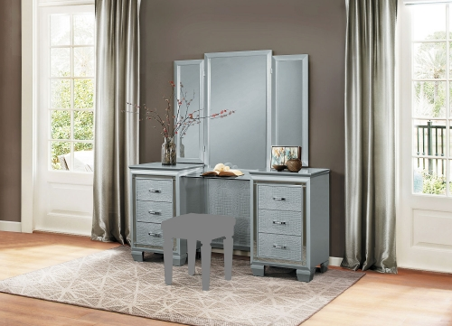 Allura Vanity with Mirror - Silver