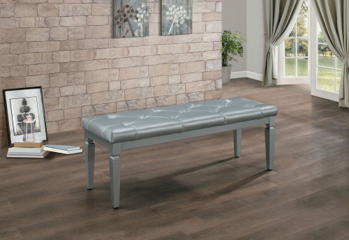 Allura Bed Bench - Silver