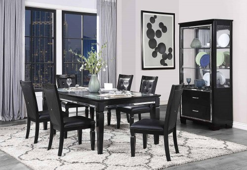 Allura Dining Set - Black Metallic