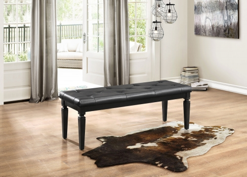 Allura Bed Bench - Black