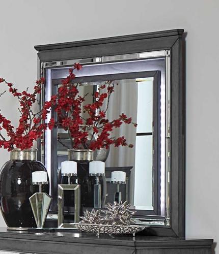 Allura Mirror with LED Lighting - Gray