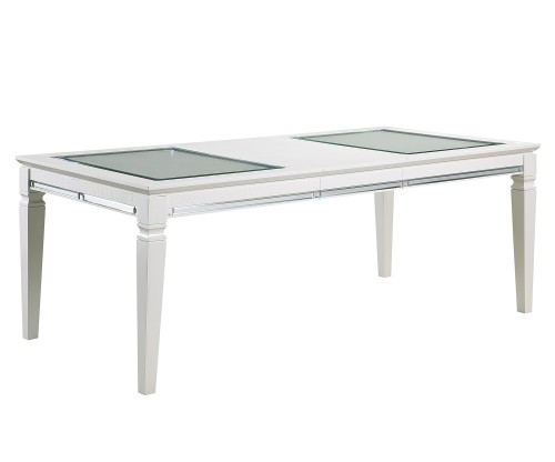 Allura Dining Table - White Metallic