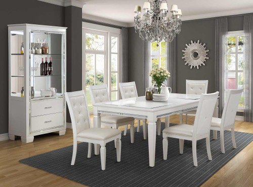 Allura Dining Set - White Metallic