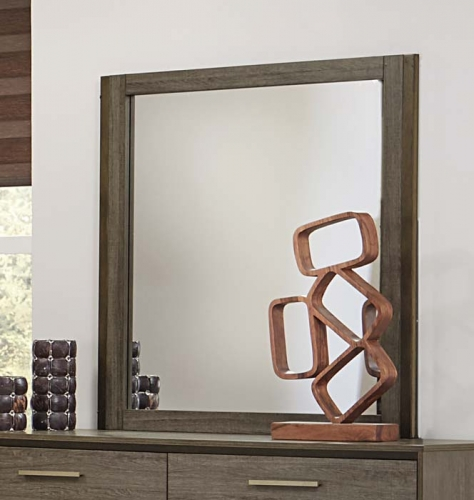 Vestavia Mirror - Grey/Dark Brown