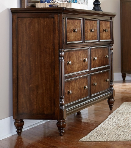 Verlyn Dresser - Cherry with Burl Accents