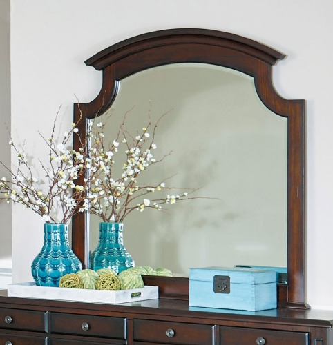 Frederica Mirror - Burnished Cherry