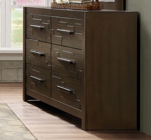 Bowers Dresser - Rustic Java Brown