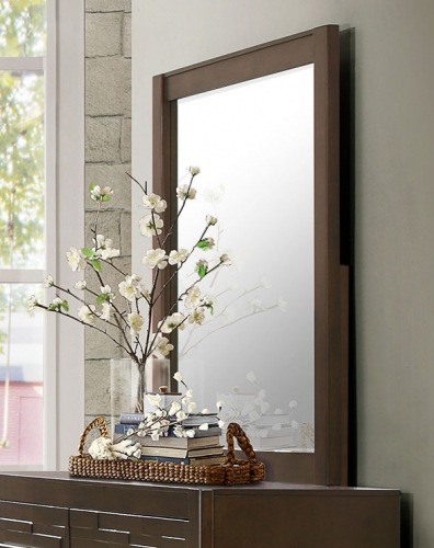 Bowers Mirror - Rustic Java Brown
