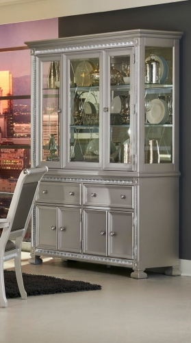 Bevelle China Cabinet - Silver