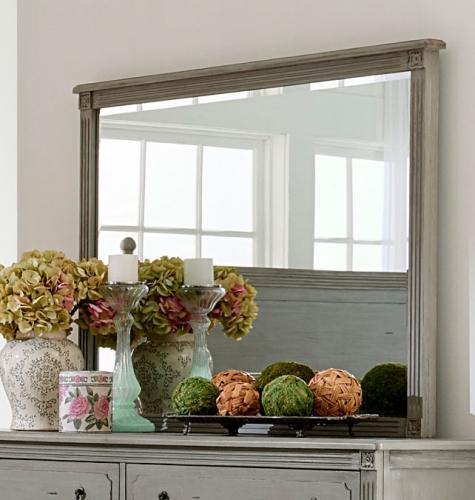 Aviana Mirror - Antique Gray