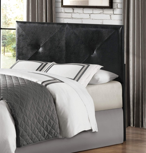 Portrero Upholstered Headboard - Black Bi-Cast Vinyl