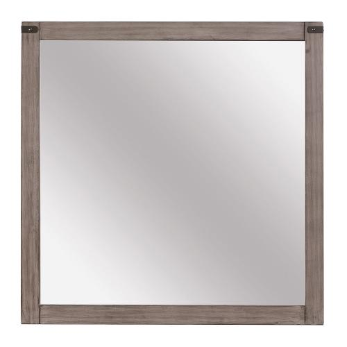 Woodrow Mirror - Weathered - Black Bi-cast Vinyl