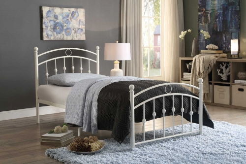 Tiana Metal Platform Bed - White