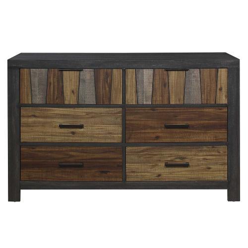 Cooper Dresser - Wire-brushed multi-tone