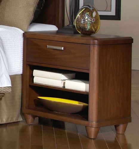 Beaumont Night Stand - Brown Cherry