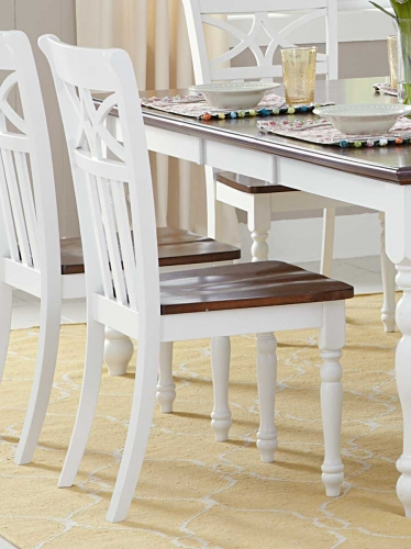 Sanibel Side Chair - Cherry/White