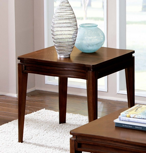 Kasler End Table - Medium Walnut