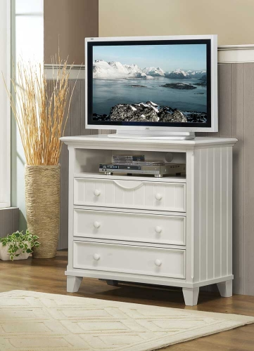 Alyssa TV Chest - White