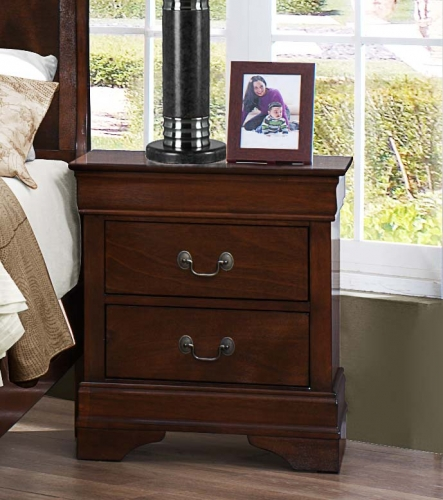 Mayville Night Stand - Burnished Brown Cherry