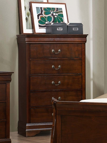 Mayville Chest - Burnished Brown Cherry