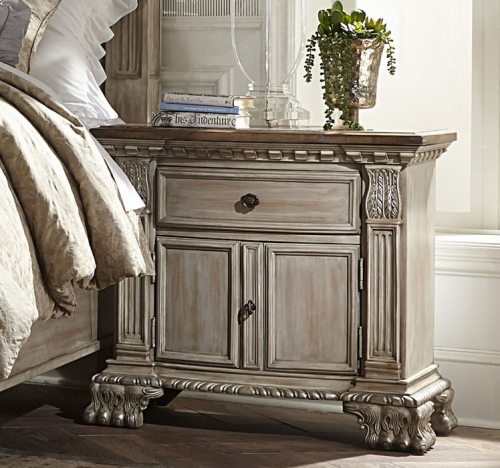 Orleans II Night Stand - White Wash