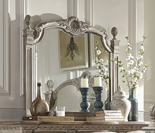 Orleans II Mirror - White Wash