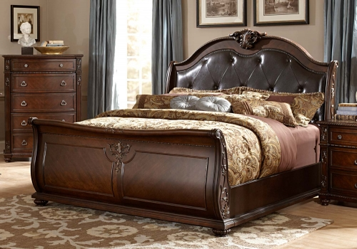 Hillcrest Manor Sleigh Bed - Cherry