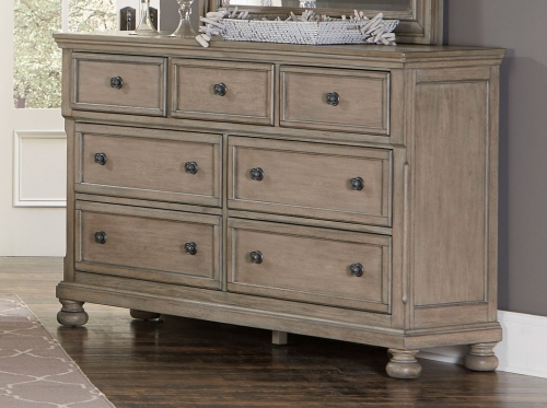 Bethel Dresser - Wire-brushed Gray