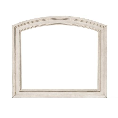 Bethel Mirror - Wire-brushed White
