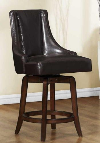 Annabelle Swivel Counter Height Chair - Brown