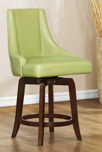 Annabelle Swivel Counter Height Chair - Green
