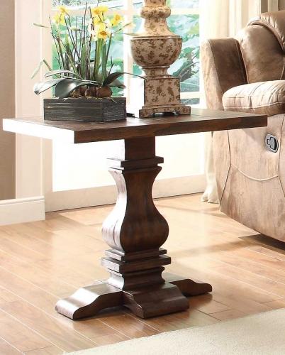 Marie Louise End Table - Rustic Oak Brown