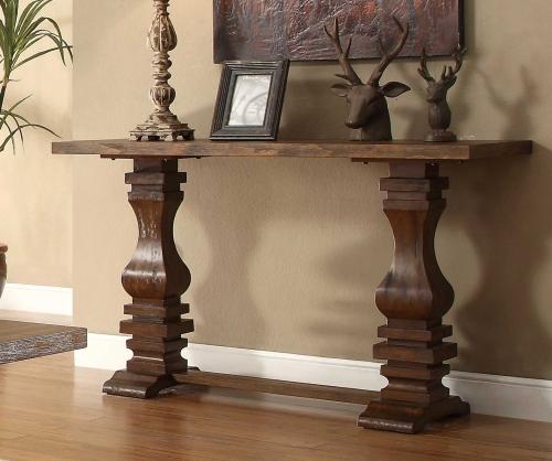 Marie Louise Sofa Table - Rustic Oak Brown