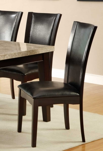 Hahn Side Chair - Dark Brown - Dark Brown Bi-Cast Vinyl