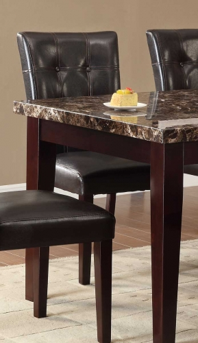 Teague Side Chair - Espresso - Tufted Dark Brown Bi-Cast Vinyl