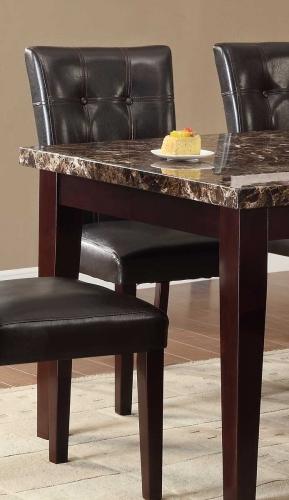 Teague Side Chair - Espresso - Tufted Dark Brown Bi-Cast Vinyl