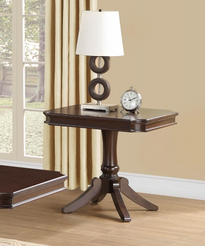 Marston End Table - Dark Cherry