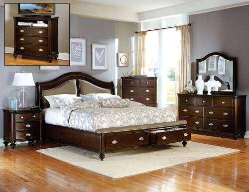 Marston Bedroom Set - Dark Cherry