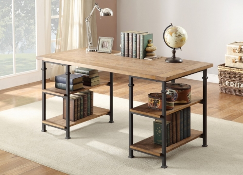 Factory Writing Desk - Rustic Brown