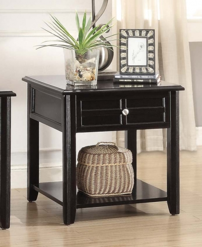 Carrier End Table with Functional Drawer - Dark Espresso