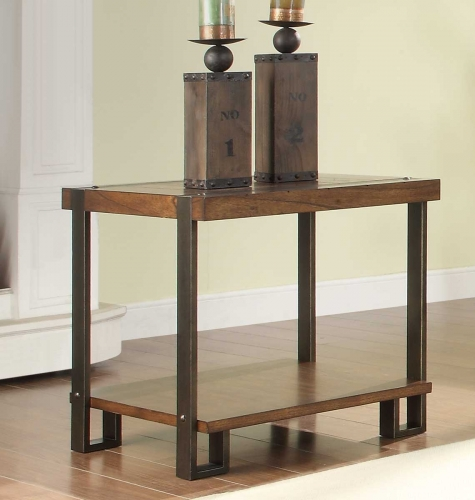 Northwood End Table - Natural Brown