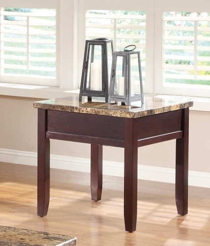 Orton End Table - Cherry