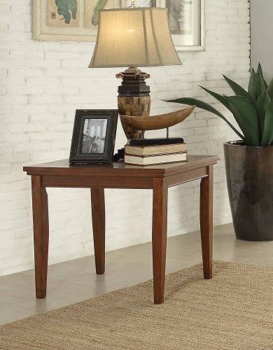 Barnett End Table - Brown with Slate Insert