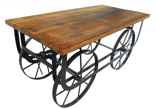 Bremerton Cocktail Table with Functional Wheels