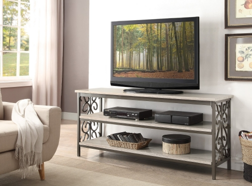 Fairhope 62-inch TV Stand/Sofa Table with Faux Marble Top