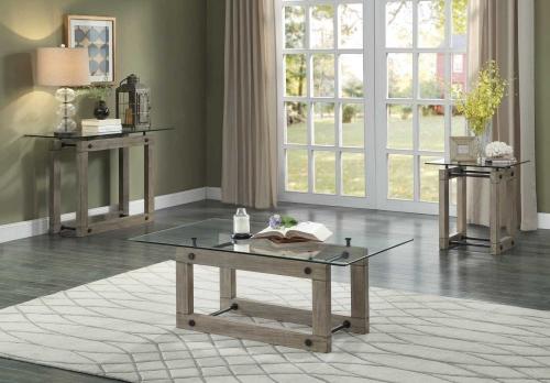 Mesilla Cocktail/Coffee Table Set - Natural wood tone