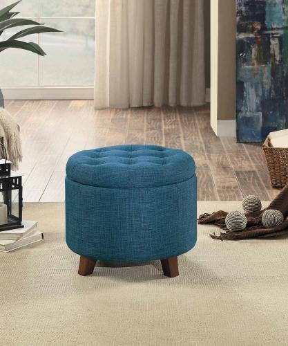 Cleo Storage Ottoman - Blue